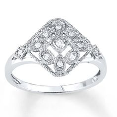 Kays  Diamond Fashion Ring 1/15 ct tw Round-cut Sterling Silver