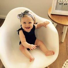 Baby knot headband, grey knot … Knot Headband, Baby Accessories, Handmade Items, Grey, Modern, Gray, Trendy Tree