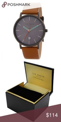 "Ted Baker 10030656 Men's Brown Leather Band ""New gorgeous authentic Ted Baker 10030656 men's brown leather band, black case, analog black dial, Japanese quartz movement, 30 meters water resistant feature and 40mm case diameter with stylish look. A classy watch is all you need to make any attire look more attractive. This timeless creation looks appealing. These Timepieces are definitely watches to keep your eyes on, this very eye-catching and modern watch is the perfect accessory option for…"