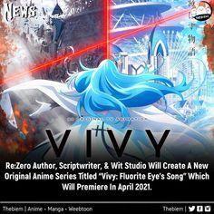 Re Zero, Author, Neon Signs, Animation, Songs, Eyes, The Originals, Studio, Anime