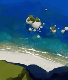 speed painting: Beachy by tohdaryl.deviantart.com on @deviantART