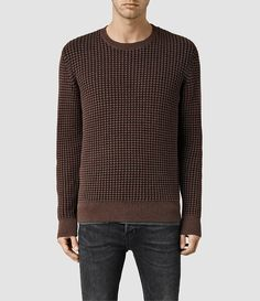 9a0c7dc67ed Mens Eydon Crew Sweater (Ink Cinder) - product image alt text 1 Mens  Jumpers