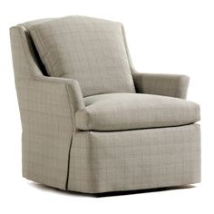 Jessica Charles Fine Upholstered Accents Cagney Upholstered Swivel Rocker