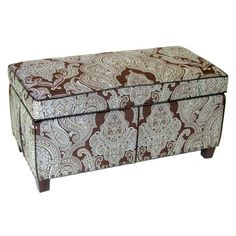I pinned this Paisley Storage Bench from the Design Report event at Joss & Main!
