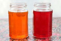 Désodorisant maison facile: gélatine-huiles essentielles colorant sel