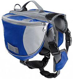 Pettom Pet Dog Saddlebag Backpack for Dogs -- For more information, visit image link.