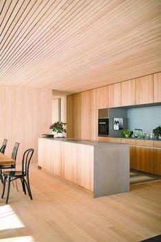 Haus B in Zwischenwasser / Dietrich Timber Architecture, Architecture Design, Cafe Interior, Kitchen Interior, Edwardian Haus, Küchen Design, House Design, Plywood Interior, Interior Decorating