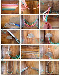 DIY : Rainbow Ribbon Necklace // Collier à Rubans Arc-En-Ciel | DIY BLOGDIY BLOG