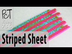 How To Make A Striped Pattern Polymer Clay Sheet - YouTube