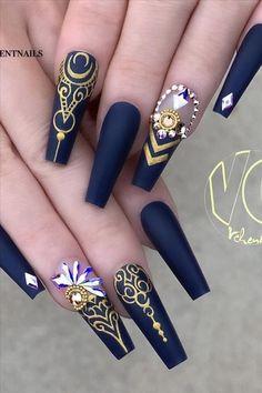 Glam Nails, Dope Nails, Bling Nails, My Nails, Beauty Nails, Nail Swag, Stiletto Nail Art, Coffin Nails, Nail Nail