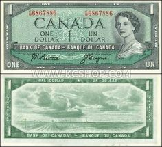 Roberts World Money Store and More - Canada Dollars Banknotes Cheap Lipstick, Canadian Dollar, Legal Tender, Canada, One Dollar, Gold Work, Things To Come, Money, Ontario