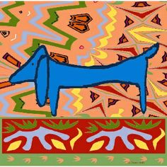 The Famous Blue Dachshund