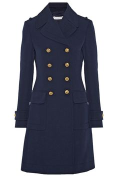 A classic style that you'll wear for years, the military coat is the structured alternative to your go-to pea design. This season, brands are taking inspiration from the heavy embellishment trend and leaning toward buckles, studs, gold buttons and other army-inspired finishes.  Keep things subtle with a navy number, or embrace the military influence with traditional khaki, opting for a casual outfit underneath – think skinny blue jeans and sneakers – to ensure your look isn't too formal.