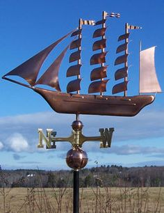 "Copper ""Tall SHIP "" Weathervane Made in USA 150 