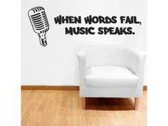 """When Words Fail, Music Speaks"""