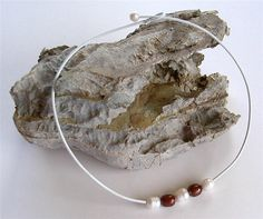 Large real Pearls on white leather cord by CuillinMountainGems, £9.99 find glass pearls at http://www.ecrafty.com/c-595-glass-pearls.aspx