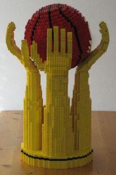 French basketball league trophy v1: A LEGO® creation by Daniel Stoeffler