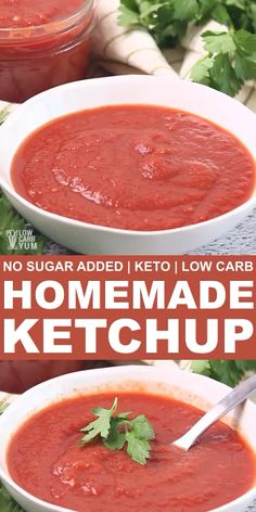 Sugar Free Ketchup Recipe, Keto Ketchup, Homemade Ketchup, Sugar Free Recipes, Healthy Ketchup Recipe, Sugar Free Tomato Sauce, Sugar Free Diet, Homemade Salsa, Gastronomia