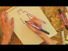 How to Draw a Minecraft Enderman in pencil and marker