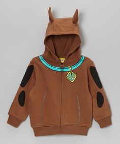 Brown Scooby-Doo Zip-Up Hoodie