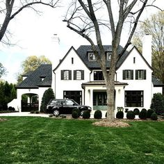 House design Exterior - Our latest project is a perfect mashup of East Coast meets West Coast styles Style At Home, Br House, Cottage House, Tudor Style House, Cottage Style, Tiny House, Modern Cottage, Casas Containers, Dream House Exterior