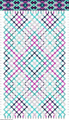 Muster # 85269, Streicher: 24 Zeilen: 40 Farben: 6