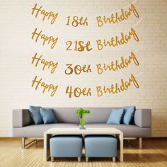 Unbrand Party Banners Home, Furniture & DIY Moms 50th Birthday, Happy Birthday Bunting, Birthday Garland, Happy Birthday Parties, 50th Party, Birthday Party Decorations, Custom Birthday Banners, Party Banners, Gender Reveal Party Supplies