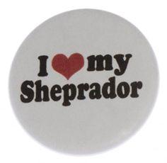 I Love my Sheprador 1.25 Magnet (heart)  Dog Puppy Australian Shepherd and Labrador Retriever