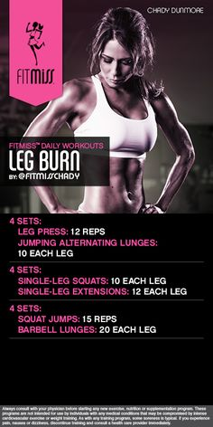 FitMiss Leg Burn powered by Delight! Find out more at www.facebook.com/iamfitmiss www.twitter.com/iamfitmiss