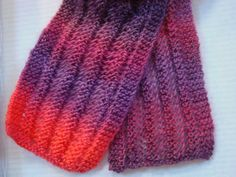 Womens Scarf Multi-color Reds Lightweight Adult by CherylsKnits