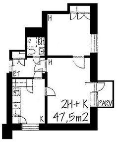 Hämeentie, Kallio, Helsinki, 2h+k 47,5 m², SATO vuokra-asunto
