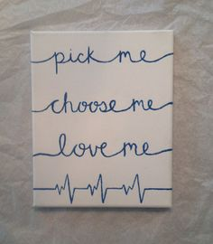 Hand Painted Canvas Quote Grey's Anatomy 8x10 by ReLivIt on Etsy More