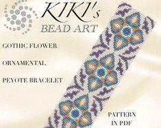 Pattern peyote bracelet Cubic power peyote por KikisBeadArts
