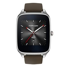 ASUS ZenWatch 2 Android Wear Smartwatch 163 Gunmetal case with Brown Leather Band -- Be sure to check out this awesome product. Zen Watch, Android Wear Smartwatch, Android Watch, Android 4, Taupe, Mini Pc, Timex Watches, Men's Watches, Amazing Watches