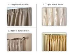 Image result for pinch pleat curtains with leading edge