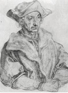 Ritratto di Sebastian Brandt. 1529. Eseguito durante il viaggio nei Paesi Bassi.