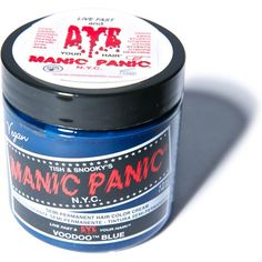 Manic Panic Voodoo Blue Classic Hair Dye ($14) ❤ liked on Polyvore featuring beauty products, haircare, hair color and voodoo blue