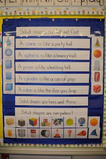 Riccas Kindergarten: Solid Shape Sort {Freebie} integrating math into poetry center Preschool Math, Teaching Kindergarten, Fun Math, Kindergarten Freebies, Teaching Ideas, Teaching Time, Preschool Ideas, Math Resources, Math Activities