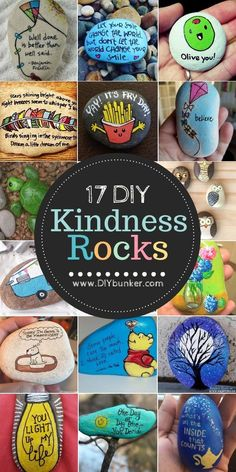 These painted rock ideas are the cutest! If you're thinking of joining the kindness rocks project, this is where to start! Fun Craft, Diy Crafts For Kids, Easy Crafts, Homemade Crafts, Craft Ideas, Teen Crafts, Summer Crafts, Creative Crafts, Painted Rocks Craft