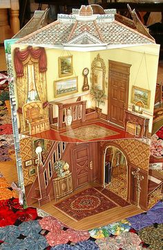 118 Best Pop Ups And Paper Doll Houses Images Cartonnage Knives