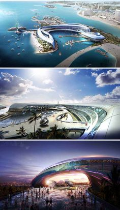 Abu Dhabi Mirage Hotel designed by Korean architect Changki Yun of the KA3 Design Group