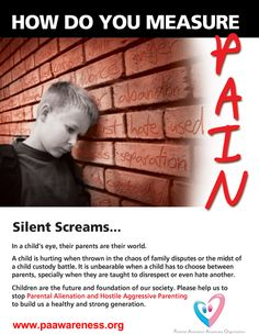 Parental Alienation Syndrome seriously harms.....oh. Some just call it introverted.  Aren't they in denial?