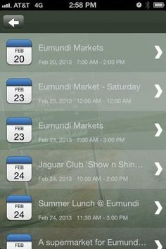 The Eumundi App is for both locals and the many thousands of visitors to the famous Eumundi Markets to keep them up to date with local events and in touch with the many clubs, associations and businesses that service the local area.<p>The App also contains information on Community groups and projects around the Eumundi and Doonan areas with links to bus and rail timetables for those looking to travel and much more local information.<p>• Where to Eat & Shop<p>From browsing around the World…