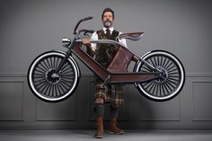 | The Cykno Electric Bicycle, Perfect for Your Steampunk Adventures #swedish http://www.pinterest.com/TheLadyApryle/