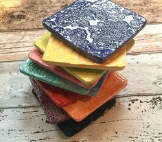 Ceramic Coasters Set of 4 by SeabreezeCeramics on Etsy