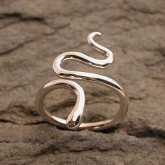 bf92a86c0e9 Items similar to Silver Snake Ring Modern Medusa Sterling Silver Serpent  Ring Snake Jewelry by Susan Sarantos on Etsy