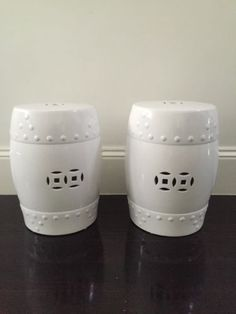 Ceramic White Stools X 2 in Home u0026 Garden Home Décor Other Home Décor : ceramic stool white - islam-shia.org