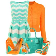 Aqua Chevron :) >>> love this dress!