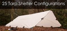 I've listed 25 different tarp shelter designs to help you get started. Each configuration has its pros and cons and there isn't really a perfect design for all occasions. You'll have to chose the right one depending on your situation or you could just try them all out to test your bushcraft tarp setup skills.