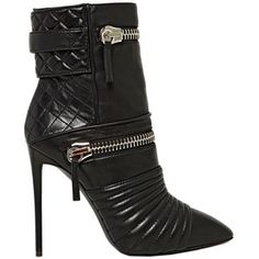 GIUSEPPE ZANOTTI 110mm Quilted Zipped Calf Ankle Boots - Black